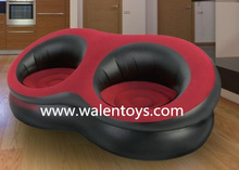 2 SEATER DOUBLE INFLATABLE SOFA CHAIR COUCH FOR INDOOR/OUTDOOR CAMPING RELAXING.