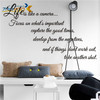 Zooyoo ZY8205 Vinyl life is like a camera stickers 3d wall decals art non-toxic living room wall decals