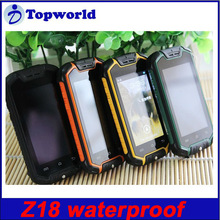 Wholesale Z18 smart phone 2.5inch MTK6572 Dual Core Android 4.0 Waterproof Dustproof and Shockproof Mobile Phone