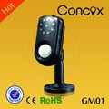 nuevo diseño de infrarrojos impermeable 3g de vídeo de vigilancia gsm alarma de la cámara gm01 de la policía de seguridad y equipos de mayoristas