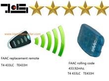 Remoto faac rolling code, 433,92 mhz de frecuencia