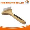 Wooden Handle dog brush pet rake