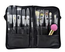New Design Portable High Quality PU Material Brushes Pouch Makeup Bag Waist Brush Bag Cosmetic Waist Belt With Zipper