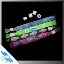 2015 Best Selling customized heat transfer hand band with metal seal for event, festival, party, advertising or promotinal items