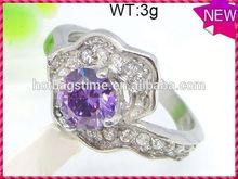 Modern personalized design jewelry female silver fashion black diamond finger ring