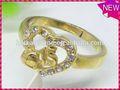 Modern personalizado design de jóias vestido acessório prata rotating engrenagem anel