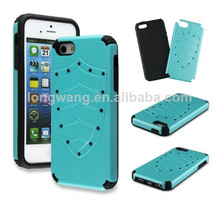 Super Cool hybrid PC Silicone Shield Case for iphone 4 4s 5 5s