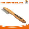 Grooming Comb For Dog with bamboo handle