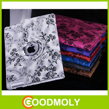 Fashion design flower patterned universal leather case for ipad