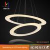 modern hot sales two -rings led light pendant