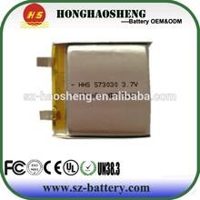 small lipo battery 300 battery lipo 573030 for video pen
