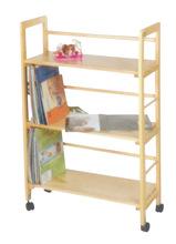 OEM Modern Wooden Shelf With Wheel
