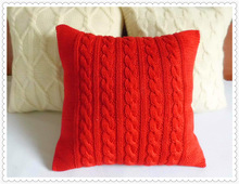 Hand Knitted Cushion Cover, Knitted Pillow Case, knit wool cushion covers
