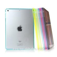 Stylish PC+TPU case for ipad MINI /MINI2 Back cover transparent