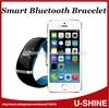 Shanghai Beijing u8 bluetooth vibrating bracelet price for iphone smart phone accessories