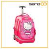 School backpack on wheels, hello kitty cartoon girl trolley school bag