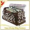 Ladies Leather Polka Dot Holdall Weekend Travel Bag