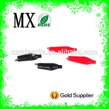 wholesale 46mm black red iron alligator clip,mini alligator clip