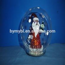 2015 Christmas Santa Clause glass ball with LED light,christmas santa claus,Santa Claus Clear glass ball christmas ornaments,