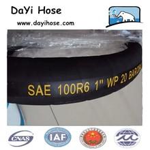Single fiber braid (non-metallic), rubber covered hydraulic hose SAE100 R6