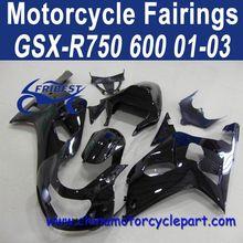 Definitely Durable 01 02 03 For Suzuki GSXR 750 GSXR 600 Fairing Motorcycle All Black FFKSU002