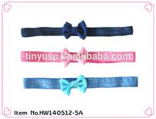 kids elastic bow headbands accessories