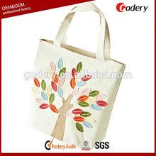 2014 hot selling fashionable design linen tote bag