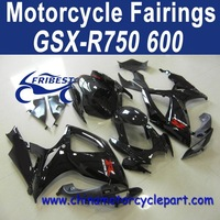 06 07 For Suzuki GSXR 750 GSXR 600 Motorcycle Cowling Fairing Black With Red Stickers FFKSU004