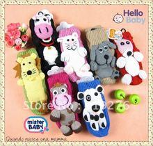0 - 3 years old cartoon animals indoor floor socks knitted baby socks non-slip baby socks thick towel JPsocks147