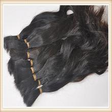 Brazilian Black Color 100% Chinese/Brazilian/Indian Hair bulk