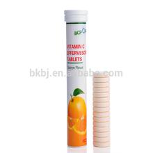 Gmp certified suplemento vitamínico alta qualidade vitamina C comprimidos efervescentes