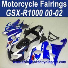 100% Fitment 00 01 02 For Suzuki GSXR 1000 ABS Motorcycle Bodykit Blue White FFKSU007