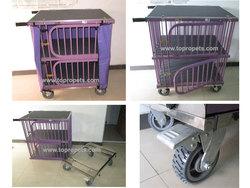 innovative dog trolley, dog cage,pet dog show trolley