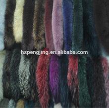 real raccoon hood fur material dyed
