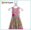2014 New Design Fashion Little Baby Girl Summer Boutique Damask Floral Print Sleeveless Ruffle Pure Cotton Beautiful Baby Dresse