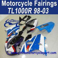 3 Layers Clear Coat 98-03 For Suzuki Tl1000r Motorcycle Fairing Kit Light Blue Dark Blue FFKSU014