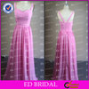 Simple Design Real Photos Spandex Chiffon Latest Design Formal Evening Gown