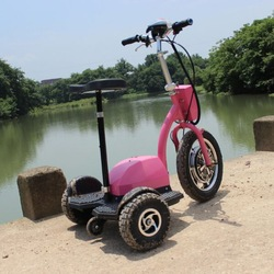 New arrival 3 wheels stand up vespa electric motorcycle with LED light