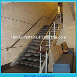 steel side stringer stair modern steel stairs entrance stairway