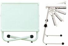 Multi purpose use folding adjustable computer table