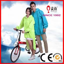 rain poncho for riding vinyl cycling branded long bike rain jacket