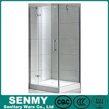 Square blind via hold glass design adjustable aluminium profile acrylic base or tray hinge opened russian shower room