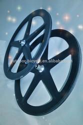 Chinese carbon fiber bicycle parts, 700C carbon fibre wheels, carbon 5 spokes wheels