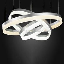 acrylic material led ring pendant light modern
