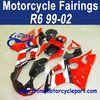 Retail 99 00 01 02 For Yamaha R6 Moto Fairing Red Black FFKYA008