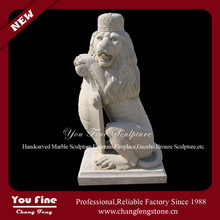 large garden stone standing lion animal statue for sale