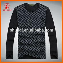 Plain round neck long sleeve t shirts china supply