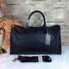 Latest fashion designer fancy leather travel duffel bag Made in china 6913
