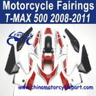 Distribution Welcomed 2008-2011 For Yamaha Tmax 500 Motorcycle Fairings Red And White FFKYA017