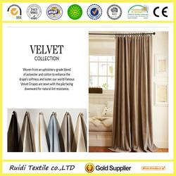 Wujiang Factory High Quality Velvet Curtain